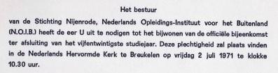 1971-07-02 Diploma uitreiking-01 uitnodiging (2)
